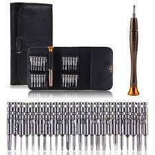 DANIU 25 in 1 Multi-purpose Precision Screwdriver Wallet Set Repair Tools