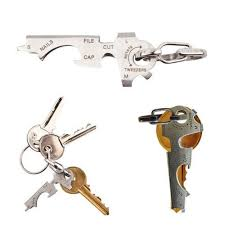 AOTDDOR EDC 8 in 1 Bottle Opener Keychain Gadget Multi-function Key Clip