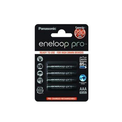 4 Panasonic Eneloop Pro rechargeable AAA batteries 930mah