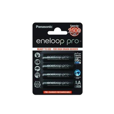 4 Eneloop Pro Rechargeable AA batteries 2500mAh